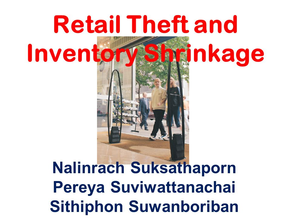 Retail Theft and Inventory Shrinkage Nalinrach Suksathaporn Pereya Suviwattanachai Sithiphon Suwanboriban