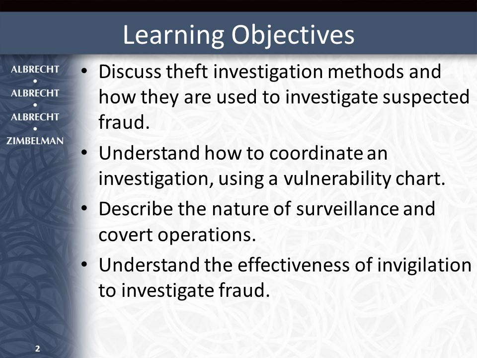 Learning Objectives Explain how to obtain physical evidence and how it can be used in a fraud investigation.