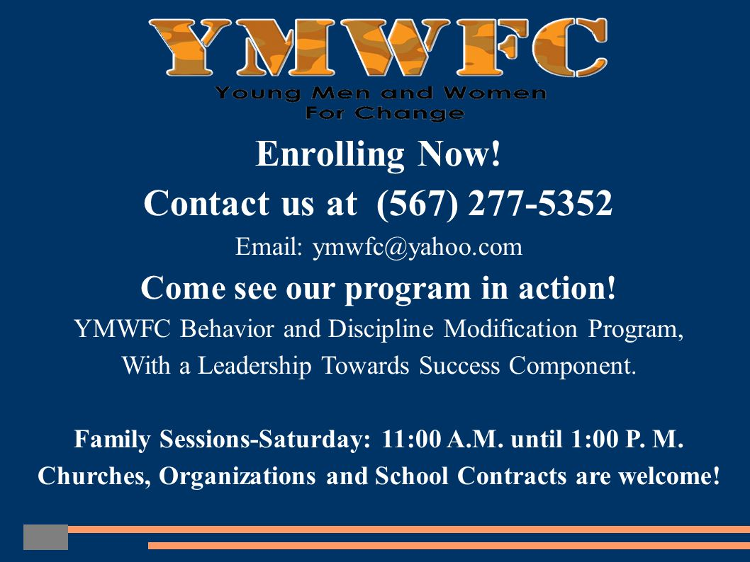 YMWFC PROFILE Young Men and Women For Change was founded in 2006 by Shawn Mahone, Sr.
