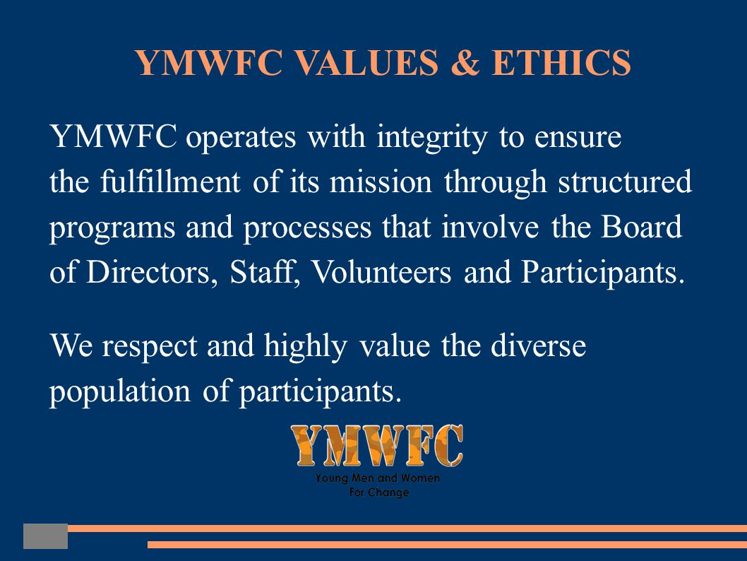 YMWFC is a registered 501c3 non-profit organization funded through donations and grants.