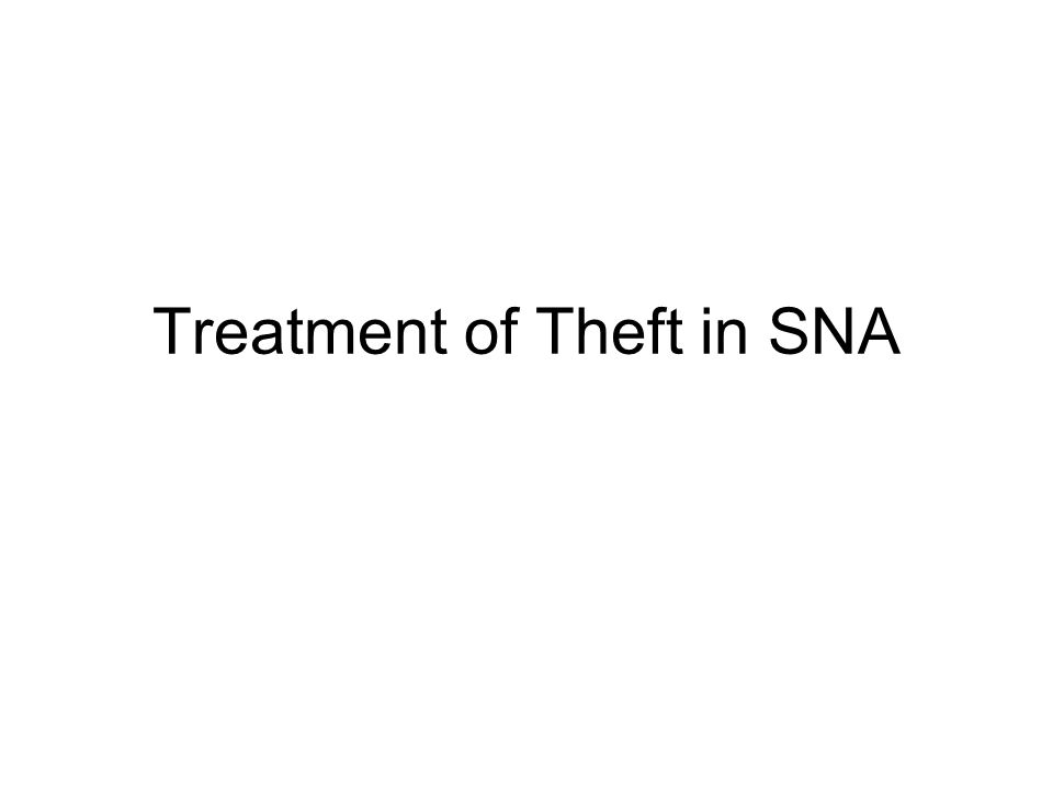 Treatment of Theft in SNA