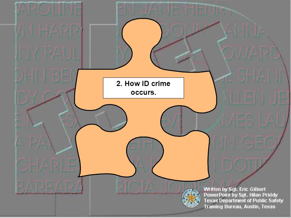 2. How ID crime occurs.