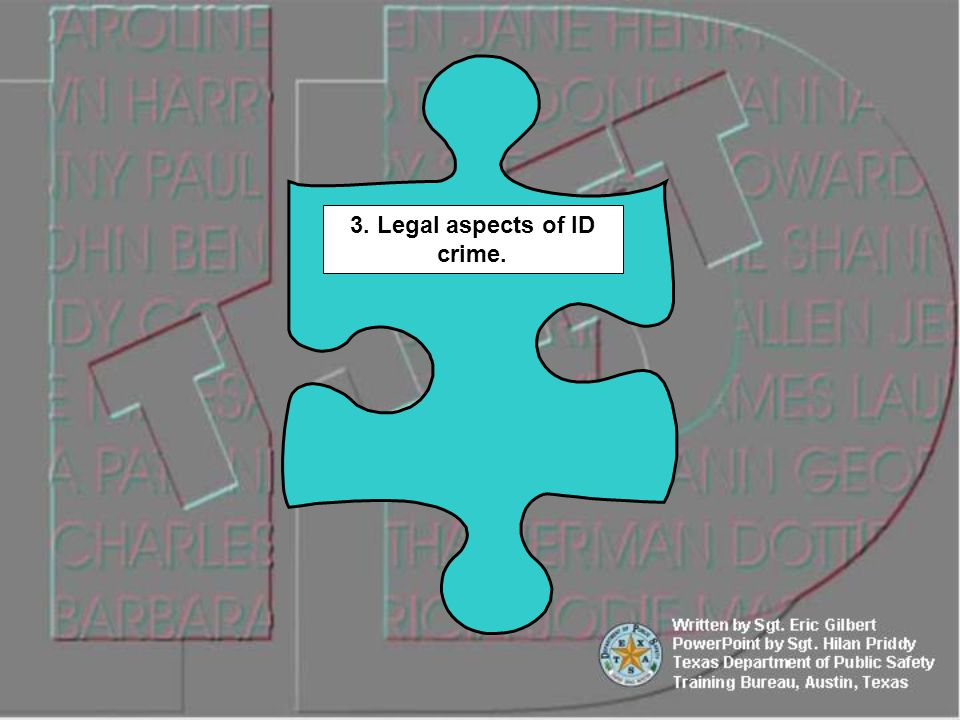 3. Legal aspects of ID crime.