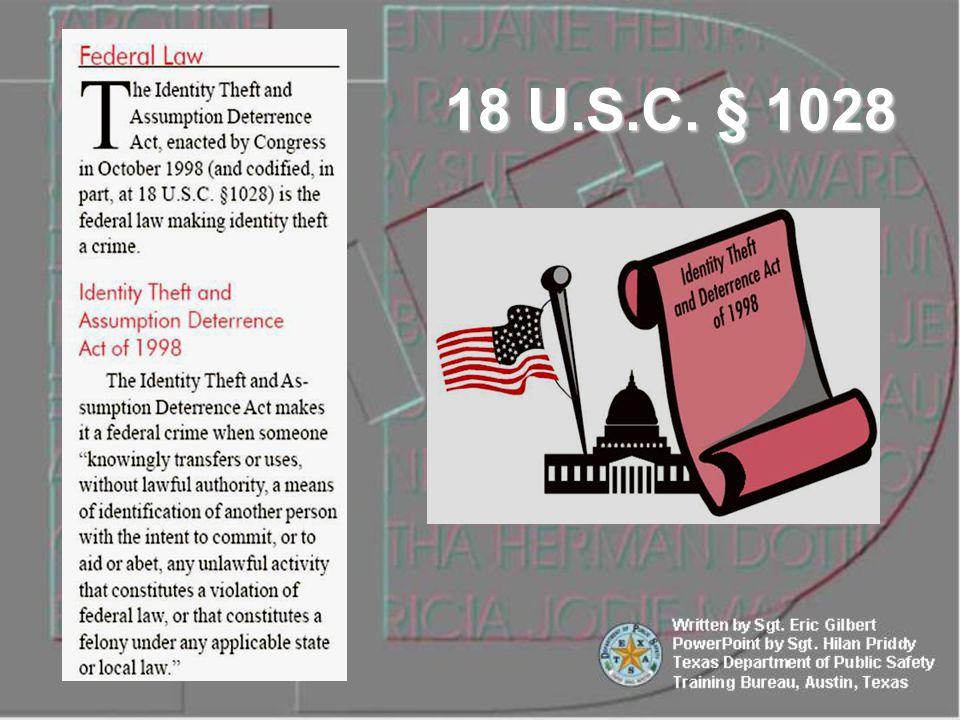 18 U.S.C. § 1028
