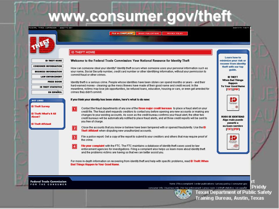 www.consumer.gov/theft