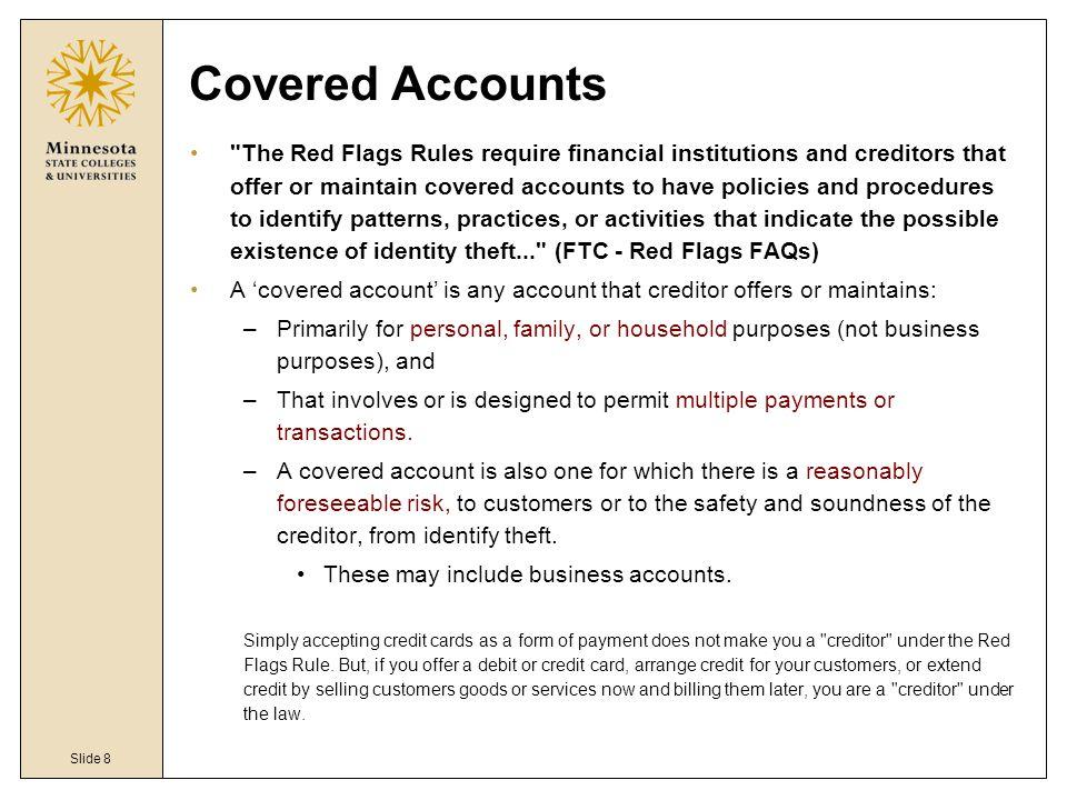 Slide 8 Covered Accounts