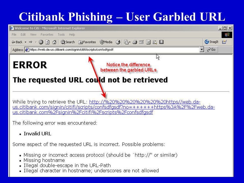 2 June 2006 Citibank Phishing – User Garbled URL