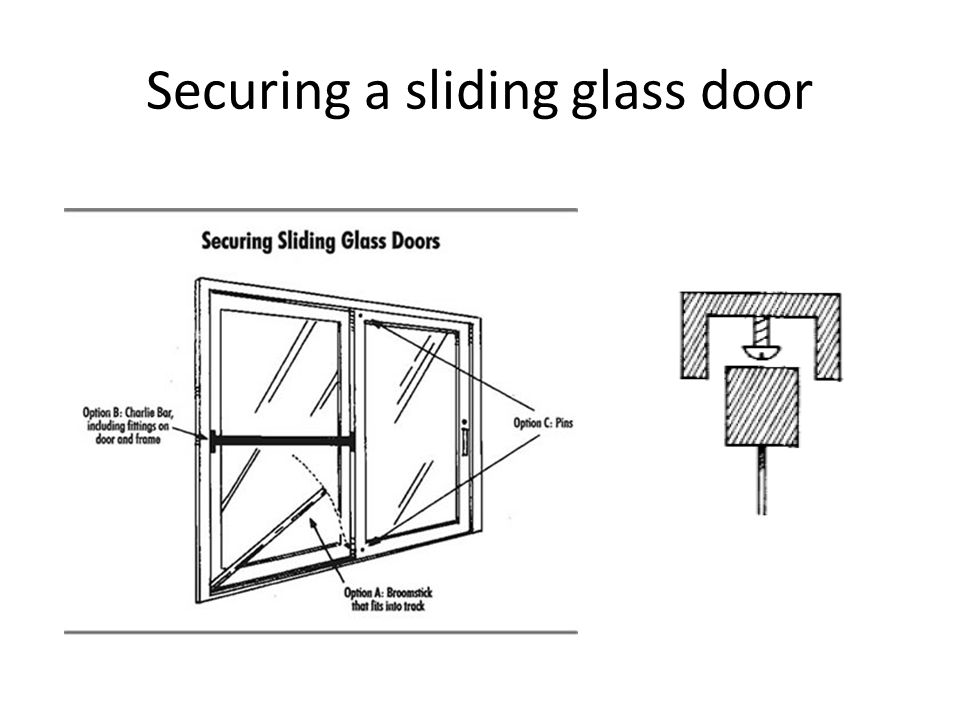 Securing a sliding glass door