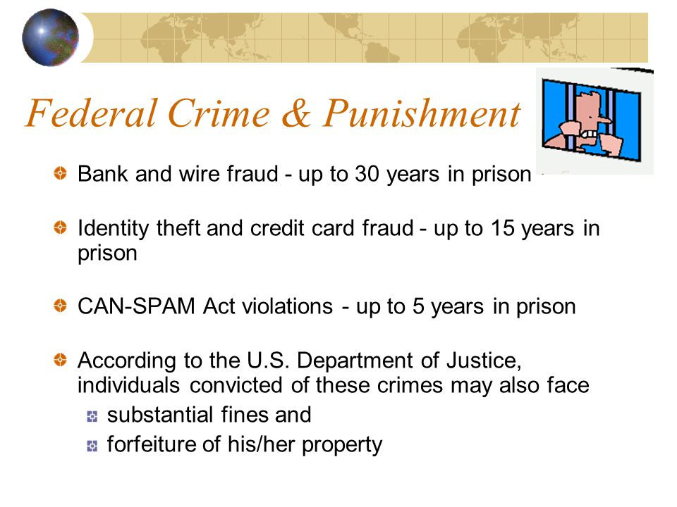 Federal Laws Concerning Phishing Identity theft - 18 U.S.C.
