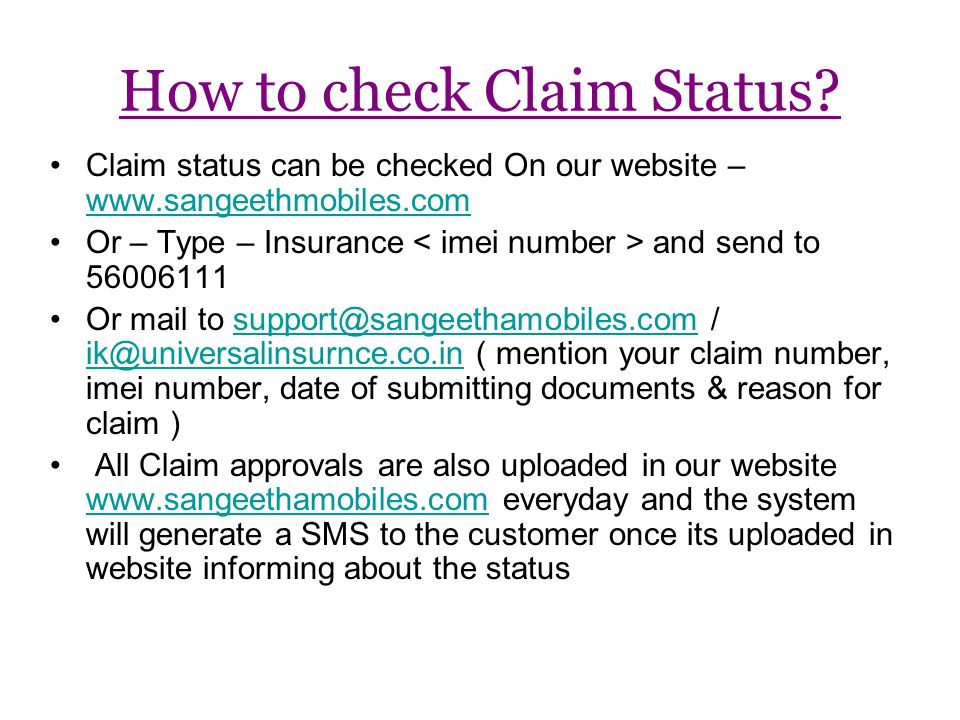 How to check Claim Status.