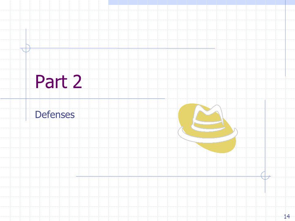 14 Part 2 Defenses