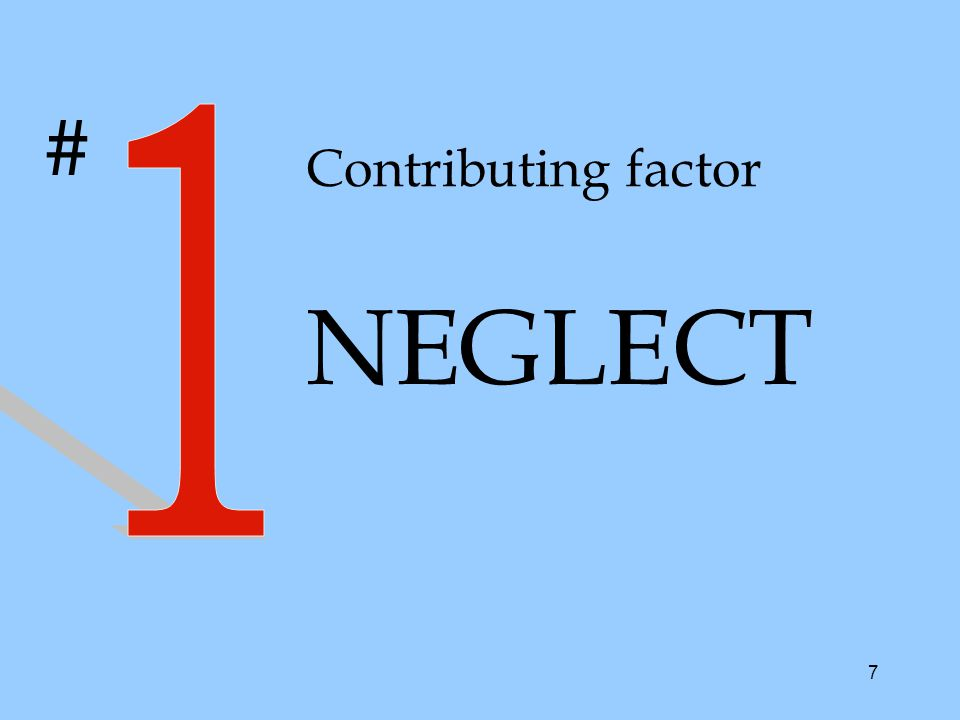 7 Contributing factor NEGLECT #