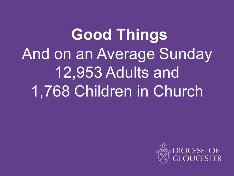 Good Things And on an Average Sunday 12,953 Adults and 1,768 Children in Church