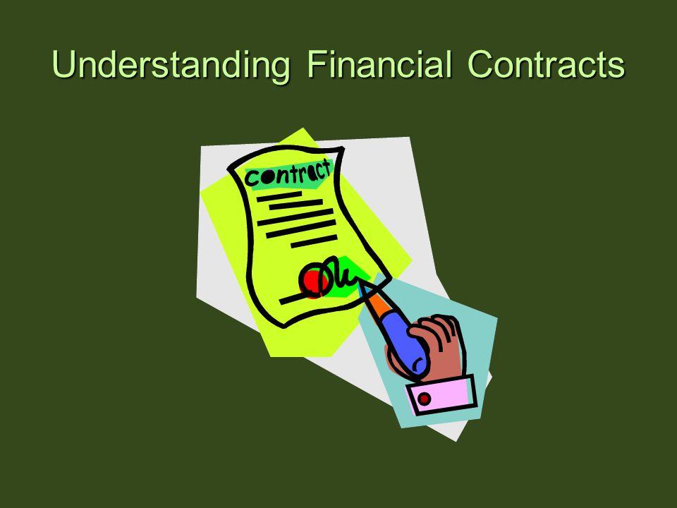 Understanding Financial Contracts