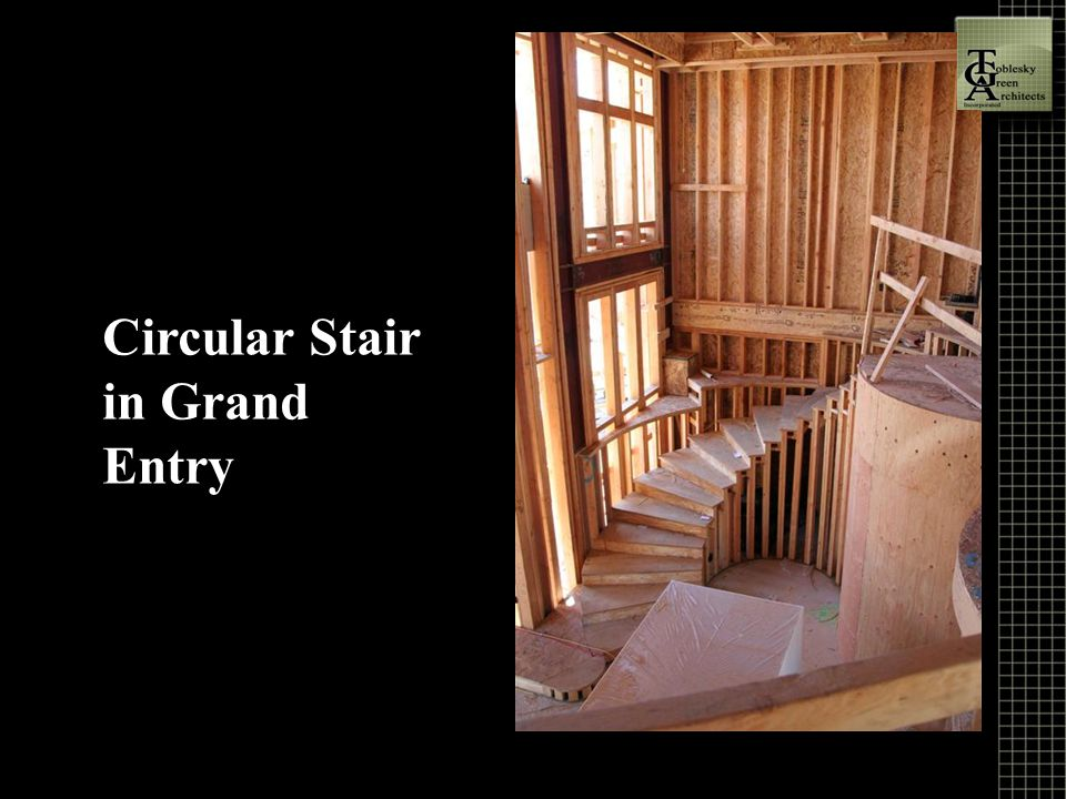 Circular Stair in Grand Entry