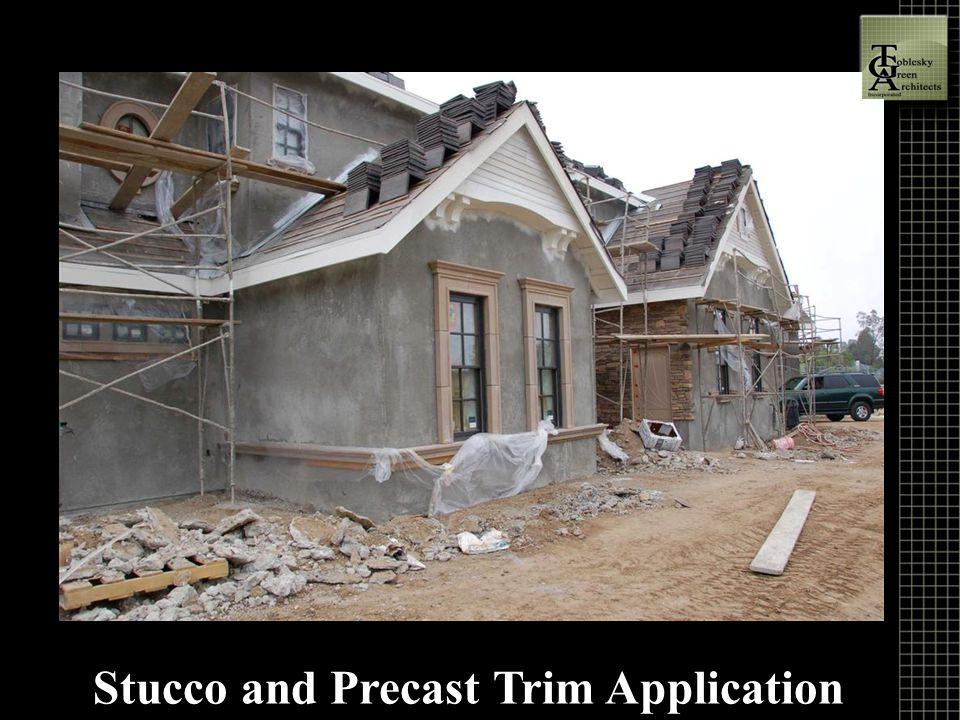 Stucco and Precast Trim Application