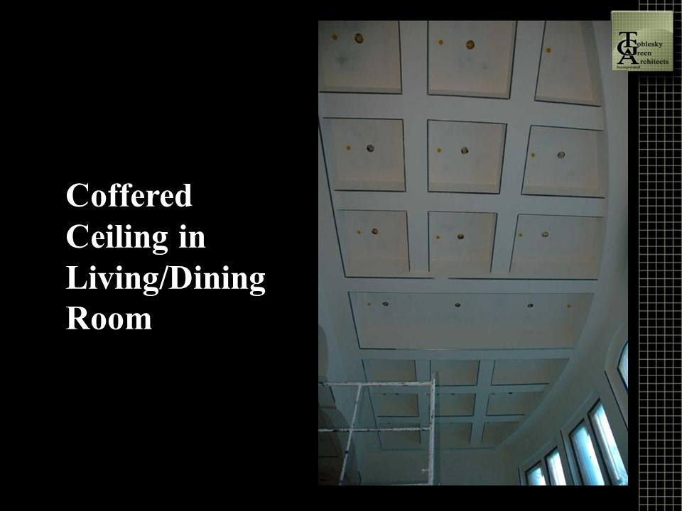 Coffered Ceiling in Living/Dining Room