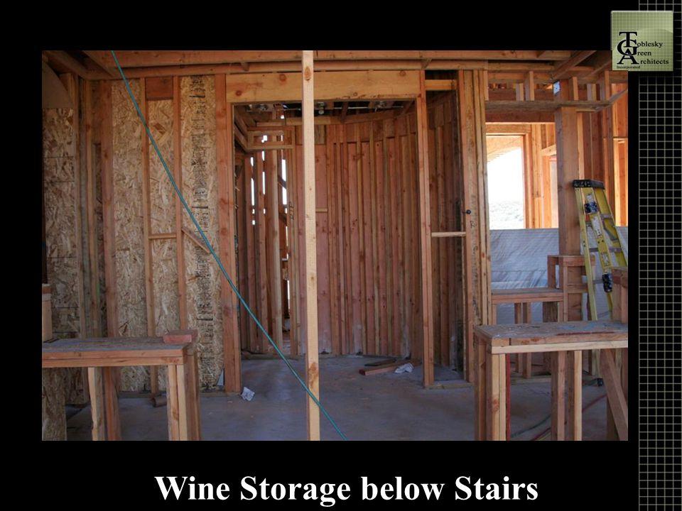 Wine Storage below Stairs