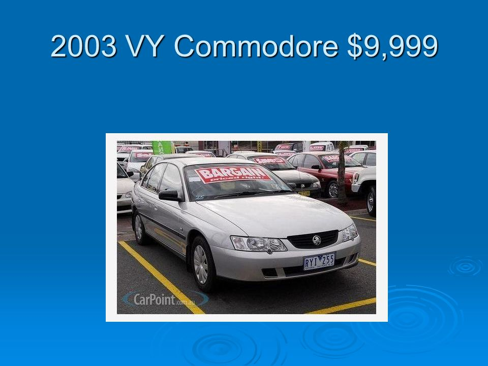2003 VY Commodore $9,999
