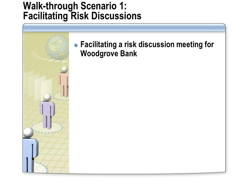 Walk-through Scenario 1: Facilitating Risk Discussions Facilitating a risk discussion meeting for Woodgrove Bank