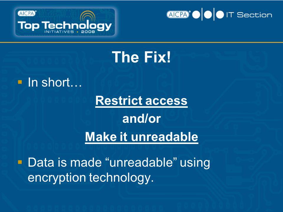The Fix.