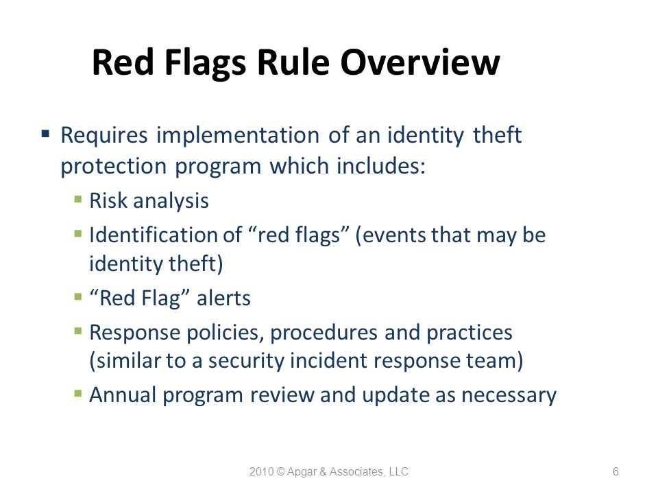 2010 © Apgar & Associates, LLC7 Federal & State Breach Notification Laws  Oregon breach notification requirements effective October 1, 2007  State security requirements effective January 1, 2008 (non-HIPAA and GLBA covered entities)  Federal interim final breach notification rule and breach notification requirements effective September 23, 2009  Penalties associated with non-compliance with state and federal breach notification laws
