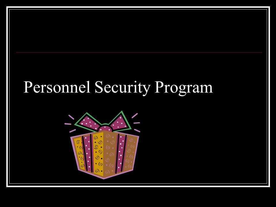 Personnel Security Program