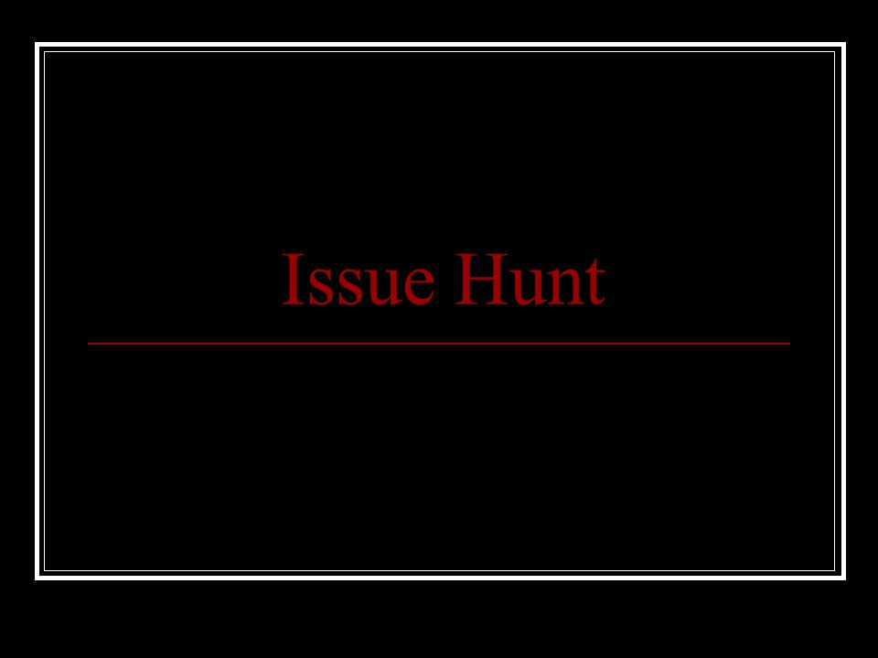 Issue Hunt