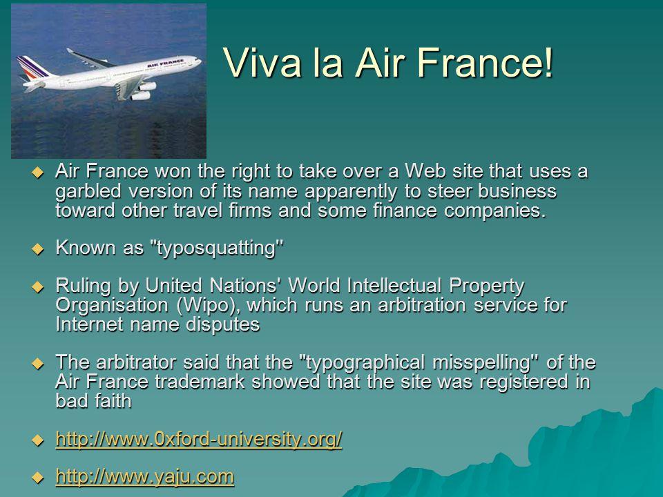 Viva la Air France.