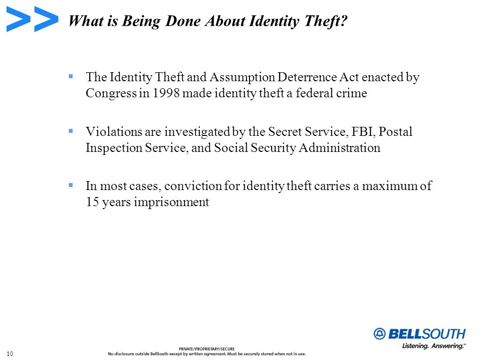 10 What is Being Done About Identity Theft.