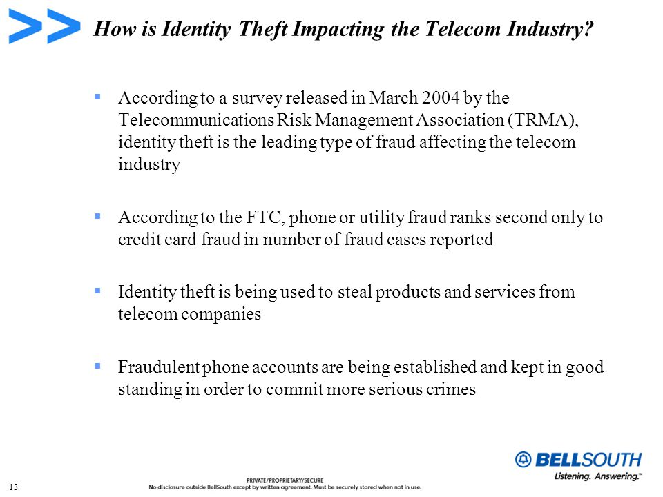 13 How is Identity Theft Impacting the Telecom Industry.