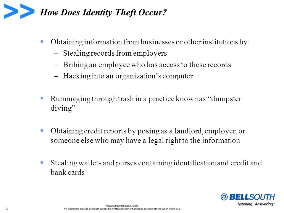 4 How Does Identity Theft Occur.