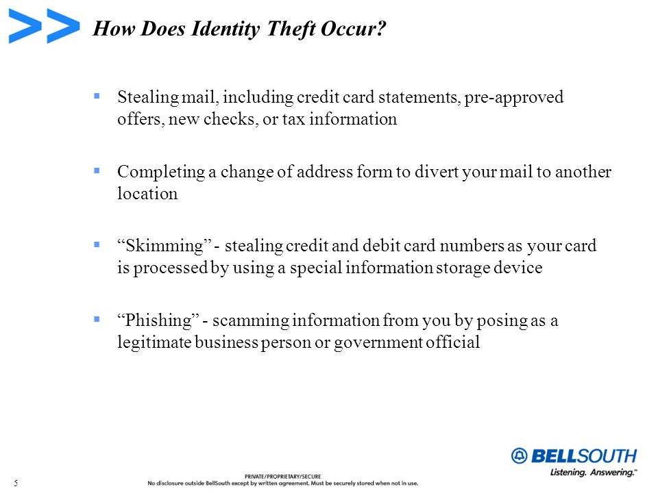 5 How Does Identity Theft Occur.