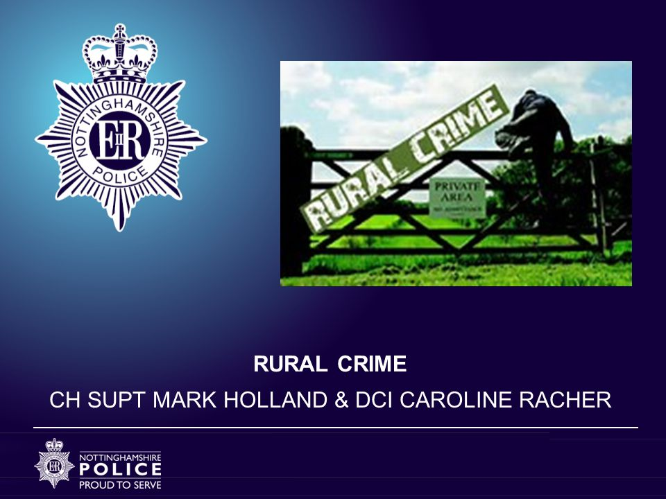 WHAT IS RURAL CRIME.