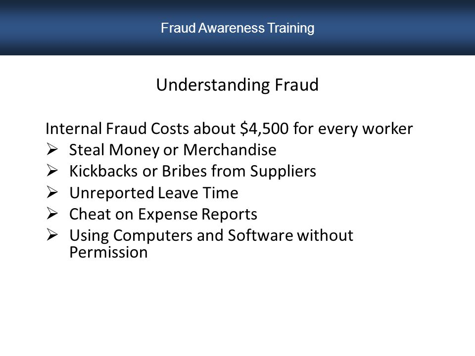 How Prevalent is Fraud.