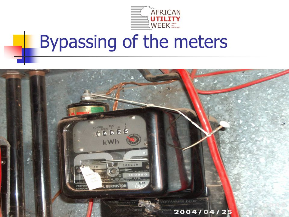 Bypassing of the meters