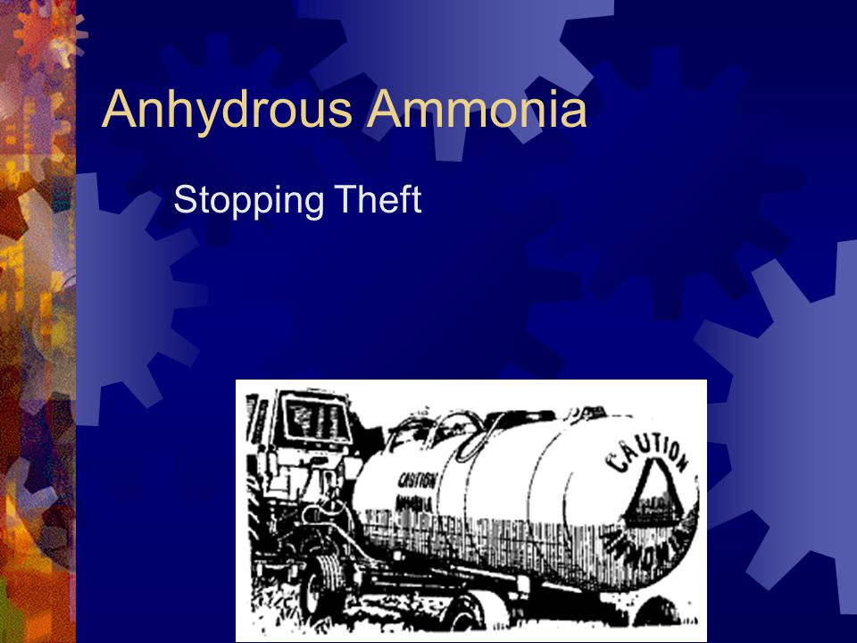 Anhydrous Ammonia Stopping Theft