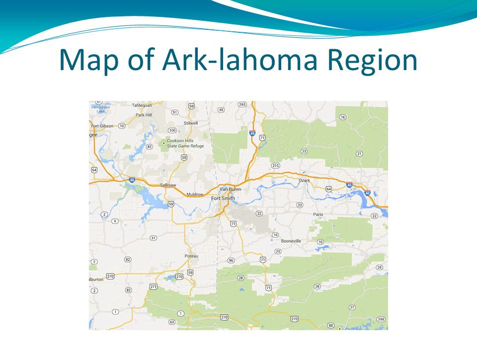 Map of Ark-lahoma Region