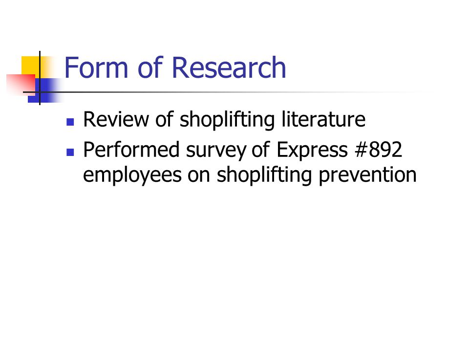 a research on shoplifting and how to prevent it Shoplifting essay shoplifting essay and sensors in your stores to prevent shoplifting in a research conducted in 2011 by fmi and the retail control group.