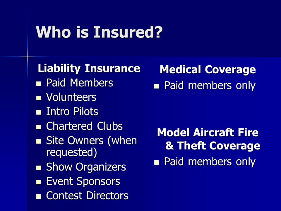 Who is Insured.