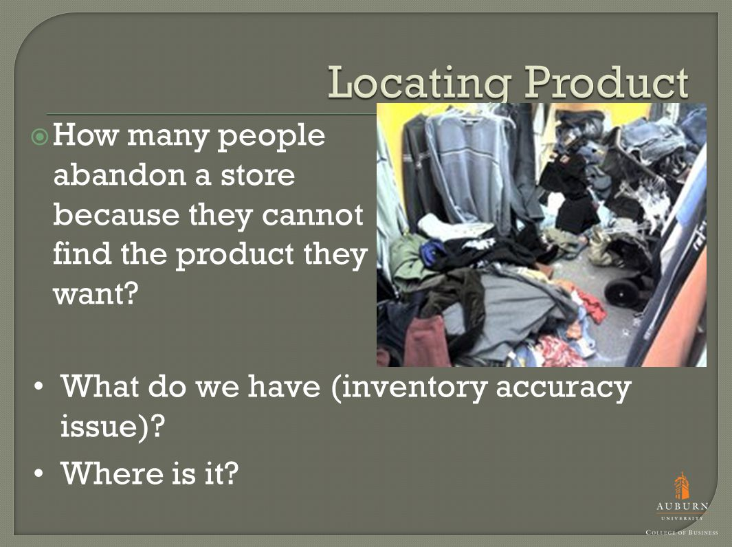 How many people abandon a store because they cannot find the product they want.