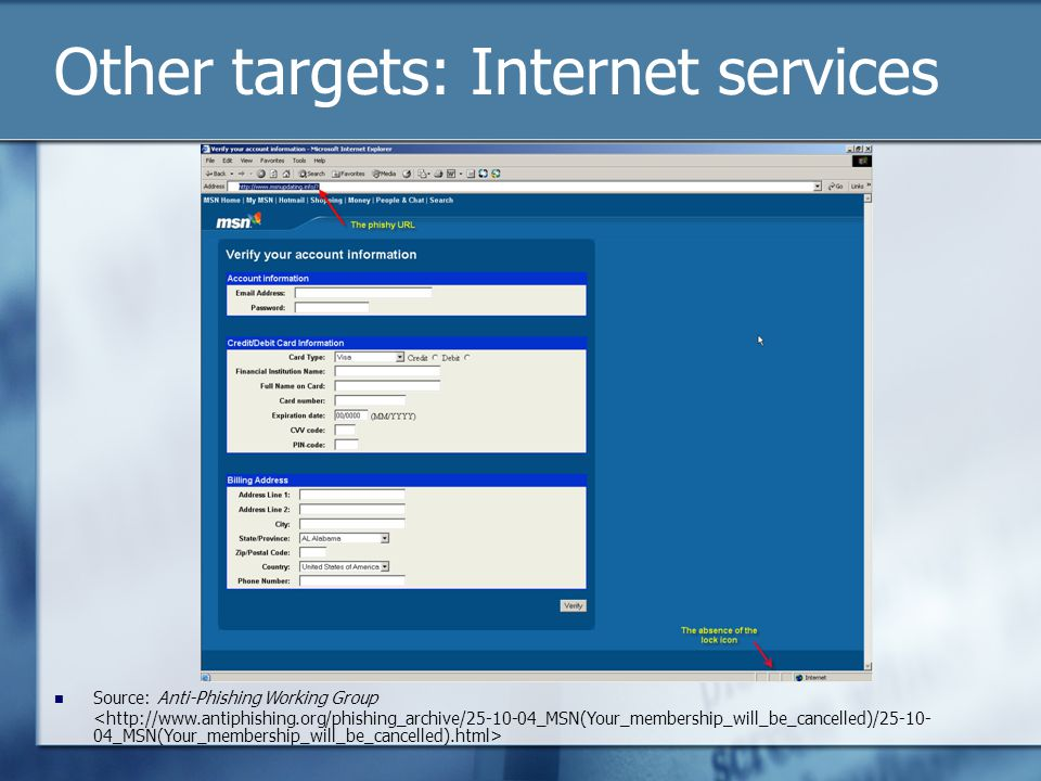 Other targets: Internet services Source: Anti-Phishing Working Group