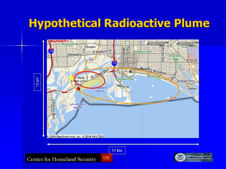 Hypothetical Radioactive Plume 17 km 10 km