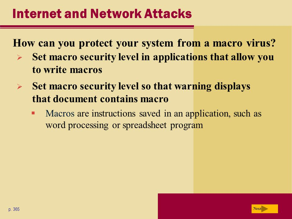 Internet and Network Attacks What is an antivirus program.