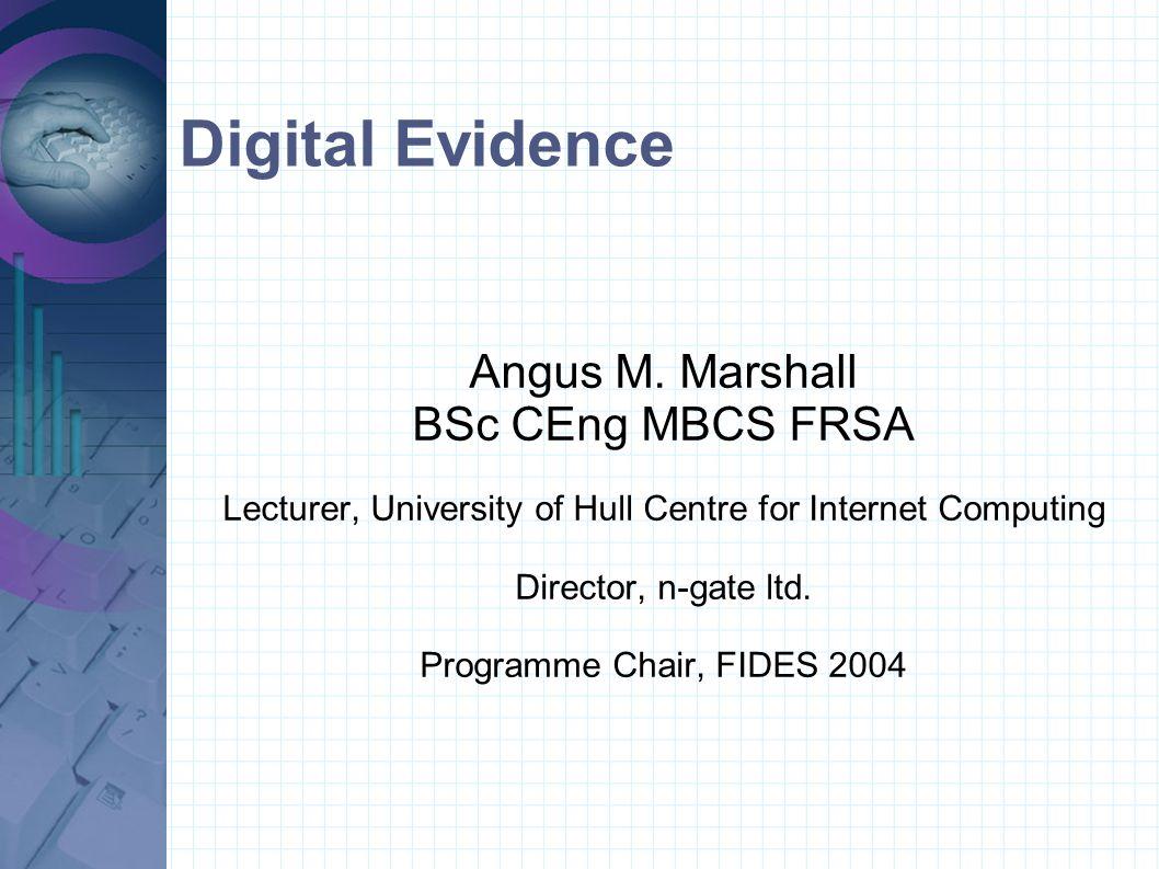 Standard case Static Evidence / Single Source