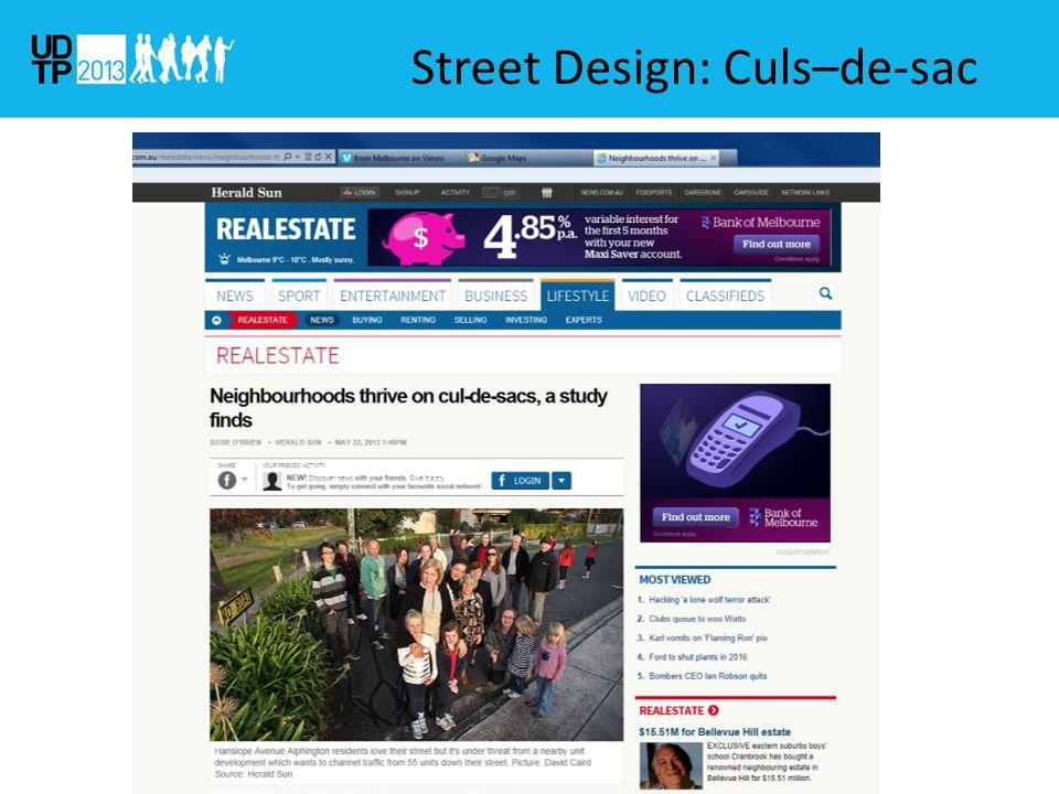 Street Design: Culs–de-sac