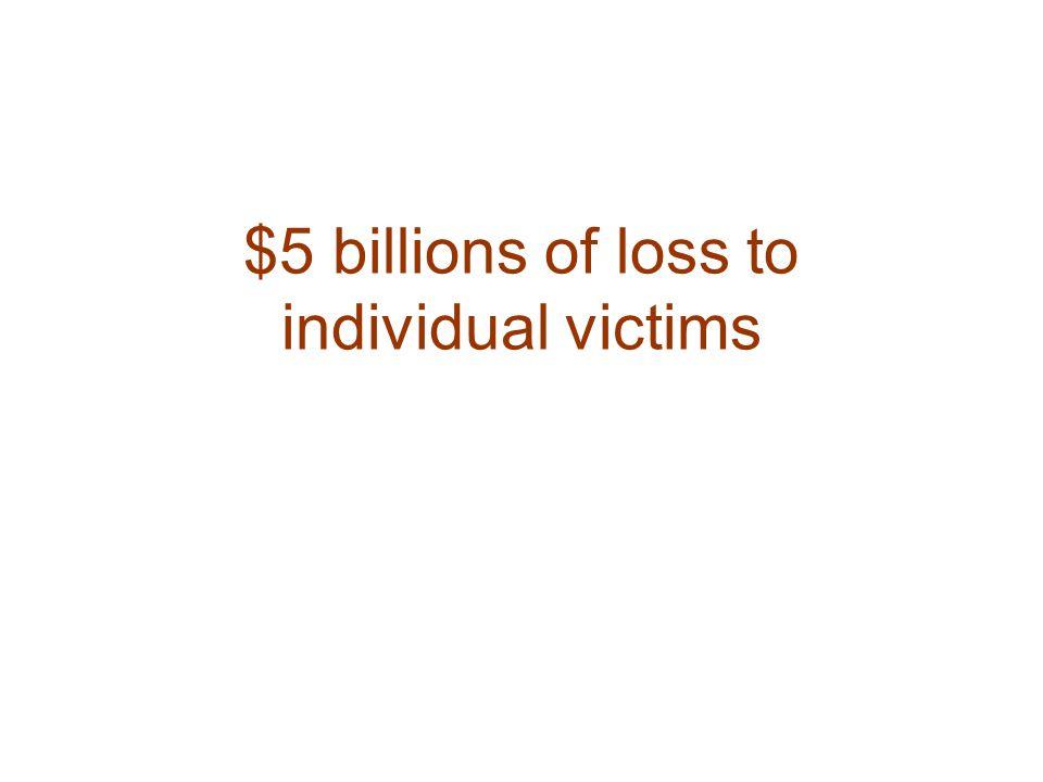 $5 billions of loss to individual victims