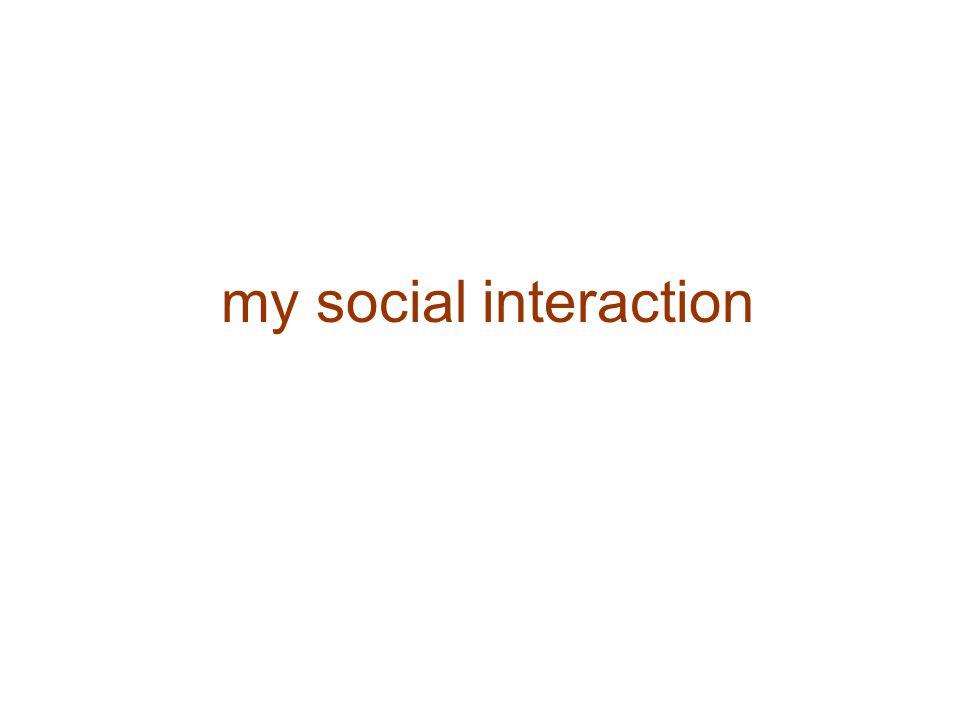 my social interaction