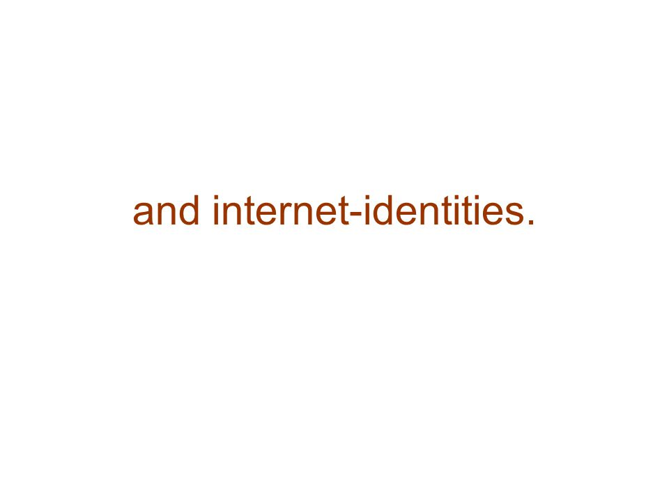 and internet-identities.