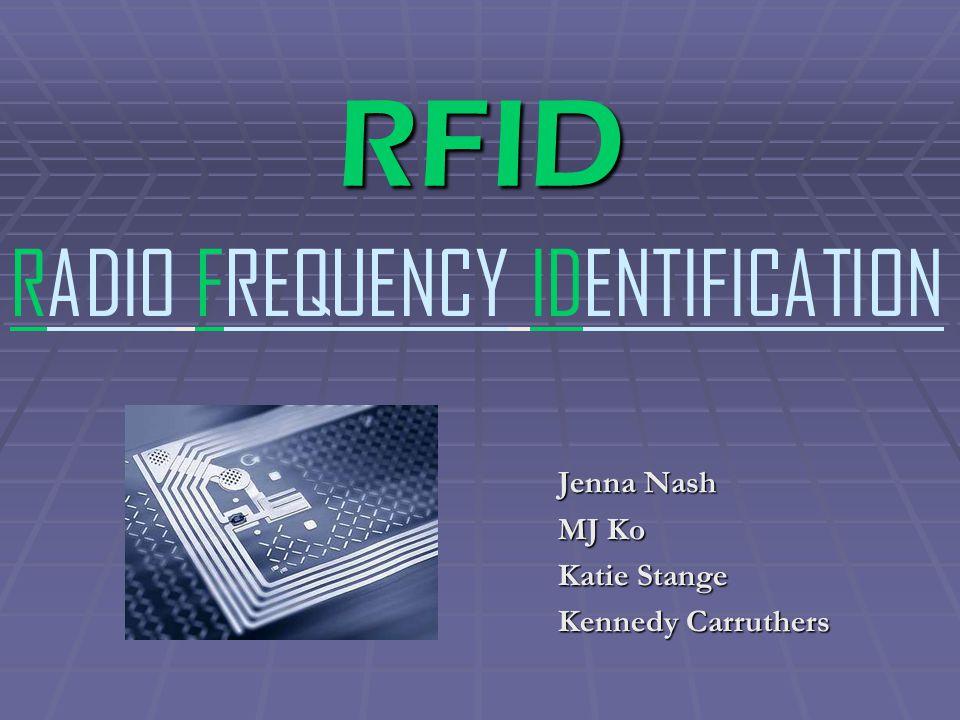 RFID Jenna Nash MJ Ko Katie Stange Kennedy Carruthers RADIO FREQUENCY IDENTIFICATION